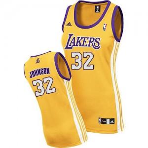 Los Angeles Lakers #32 Adidas Home Or Swingman Maillot d'équipe de NBA pour pas cher - Magic Johnson pour Femme