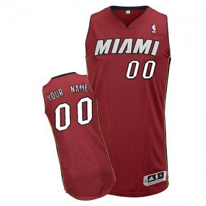 Maillot Adidas Rouge Alternate Miami Heat - Authentic Personnalisé - Enfants