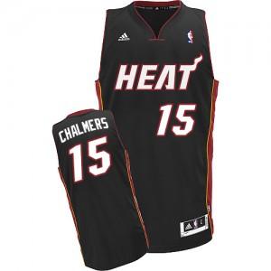 Maillot Adidas Noir Road Swingman Miami Heat - Mario Chalmers #15 - Homme