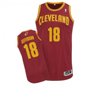 Maillot NBA Authentic Richard Jefferson #18 Cleveland Cavaliers Road Vin Rouge - Homme