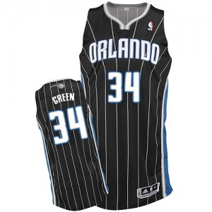 Maillot NBA Orlando Magic #34 Willie Green Noir Adidas Authentic Alternate - Homme