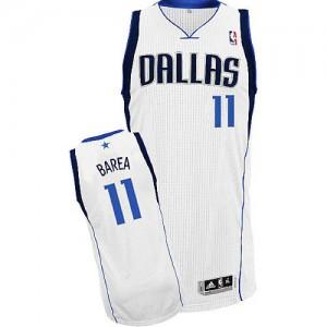 Maillot Adidas Blanc Home Authentic Dallas Mavericks - Jose Barea #11 - Enfants
