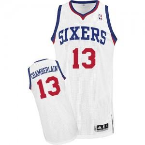Maillot NBA Authentic Wilt Chamberlain #13 Philadelphia 76ers Home Blanc - Homme