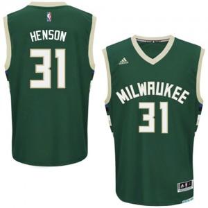 Maillot NBA Milwaukee Bucks #31 John Henson Vert Adidas Swingman Road - Homme