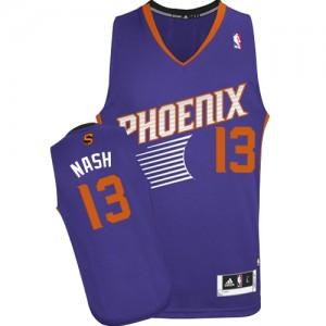 Phoenix Suns #13 Adidas Road Violet Authentic Maillot d'équipe de NBA achats en ligne - Steve Nash pour Femme