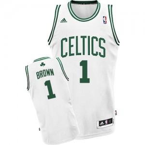 Boston Celtics #1 Adidas Home Blanc Swingman Maillot d'équipe de NBA la meilleure qualité - Walter Brown pour Homme