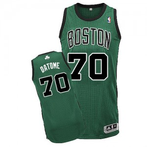 Maillot NBA Authentic Gigi Datome #70 Boston Celtics Alternate Vert (No. noir) - Homme