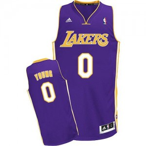 Maillot Swingman Los Angeles Lakers NBA Road Violet - #0 Nick Young - Homme