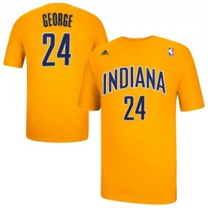 T-Shirts Adidas Or Game Time Indiana Pacers - Paul George #24 - Homme
