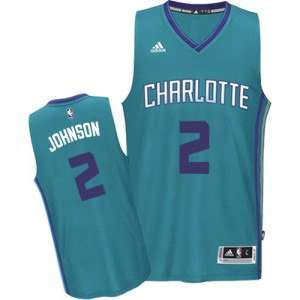 Charlotte Hornets Larry Johnson #2 Road Authentic Maillot d'équipe de NBA - Bleu clair pour Homme