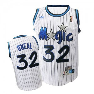 Maillot NBA Blanc Shaquille O'Neal #32 Orlando Magic Throwback Swingman Homme Adidas