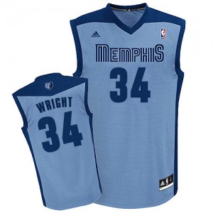 Maillot Adidas Bleu clair Alternate Swingman Memphis Grizzlies - Brandan Wright #34 - Homme