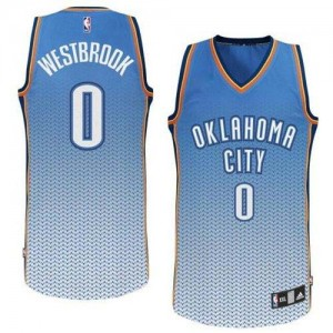 Oklahoma City Thunder #0 Adidas Resonate Fashion Bleu Authentic Maillot d'équipe de NBA Discount - Russell Westbrook pour Homme