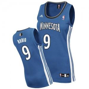 Maillot Swingman Minnesota Timberwolves NBA Road Slate Blue - #9 Ricky Rubio - Femme