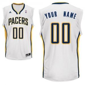Indiana Pacers Personnalisé Adidas Home Blanc Maillot d'équipe de NBA Magasin d'usine - Swingman pour Homme