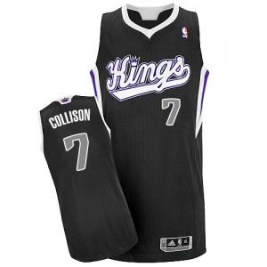 Maillot NBA Authentic Darren Collison #7 Sacramento Kings Alternate Noir - Homme