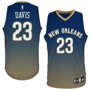 Maillot Adidas Bleu marin Resonate Fashion Authentic New Orleans Pelicans - Anthony Davis #23 - Homme