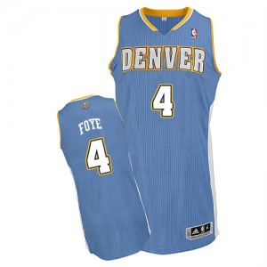 Maillot NBA Denver Nuggets #4 Randy Foye Bleu clair Adidas Authentic Road - Homme