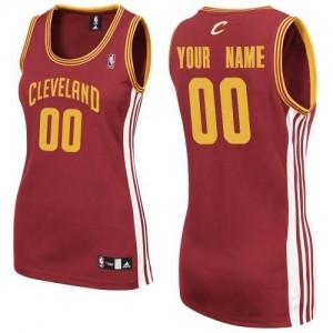 Maillot NBA Cleveland Cavaliers Personnalisé Authentic Vin Rouge Adidas Road - Femme