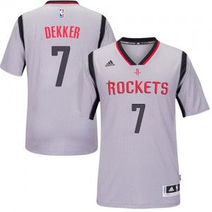 Maillot NBA Houston Rockets #7 Sam Dekker Gris Adidas Authentic Alternate - Homme