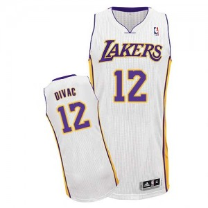 Maillot Adidas Blanc Alternate Authentic Los Angeles Lakers - Vlade Divac #12 - Homme