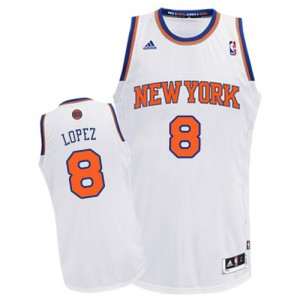 Maillot Swingman New York Knicks NBA Home Blanc - #8 Robin Lopez - Enfants