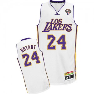 Los Angeles Lakers Kobe Bryant #24 Latin Nights Authentic Maillot d'équipe de NBA - Blanc pour Homme