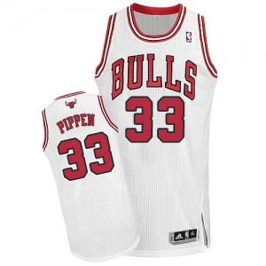 Chicago Bulls Scottie Pippen #33 Home Authentic Maillot d'équipe de NBA - Blanc pour Homme
