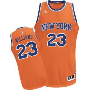 New York Knicks Derrick Williams #23 Alternate Swingman Maillot d'équipe de NBA - Orange pour Homme