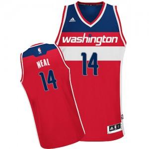 Washington Wizards #14 Adidas Road Rouge Swingman Maillot d'équipe de NBA en soldes - Gary Neal pour Homme