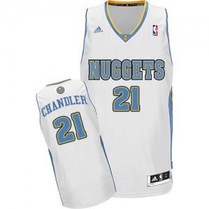 Maillot NBA Denver Nuggets #21 Wilson Chandler Blanc Adidas Swingman Home - Homme