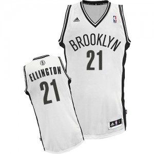 Maillot Adidas Blanc Home Swingman Brooklyn Nets - Wayne Ellington #21 - Homme