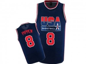 Maillots de basket Authentic Team USA NBA 2012 Olympic Retro Bleu marin - #8 Scottie Pippen - Homme