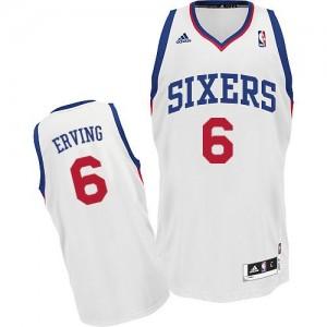 Philadelphia 76ers Julius Erving #6 Home Swingman Maillot d'équipe de NBA - Blanc pour Homme
