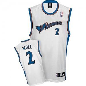 Maillot Authentic Washington Wizards NBA Blanc - #2 John Wall - Homme