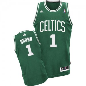 Boston Celtics #1 Adidas Road Vert (No Blanc) Swingman Maillot d'équipe de NBA Promotions - Walter Brown pour Homme