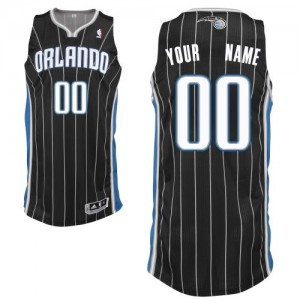 Maillot NBA Authentic Personnalisé Orlando Magic Alternate Noir - Enfants