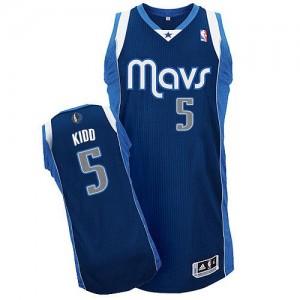 Maillot Authentic Dallas Mavericks NBA Alternate Bleu marin - #5 Jason Kidd - Homme