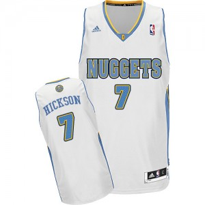 Maillot NBA Swingman JJ Hickson #7 Denver Nuggets Home Blanc - Homme