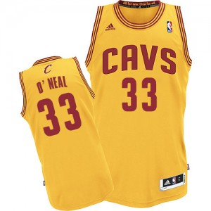 Maillot NBA Authentic Shaquille O'Neal #33 Cleveland Cavaliers Alternate Or - Homme