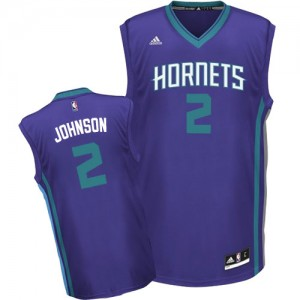 Charlotte Hornets Larry Johnson #2 Alternate Authentic Maillot d'équipe de NBA - Violet pour Homme