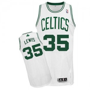 Maillot Adidas Blanc Home Authentic Boston Celtics - Reggie Lewis #35 - Homme