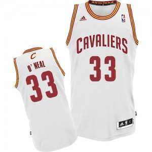 Maillot NBA Cleveland Cavaliers #33 Shaquille O'Neal Blanc Adidas Swingman Home - Homme