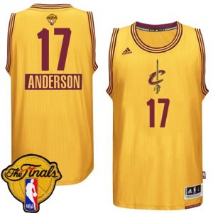 Cleveland Cavaliers #17 Adidas 2014-15 Christmas Day 2015 The Finals Patch Or Authentic Maillot d'équipe de NBA en ligne pas chers - Anderson Varejao pour Homme