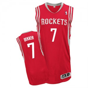 Maillot NBA Houston Rockets #7 Sam Dekker Rouge Adidas Authentic Road - Homme