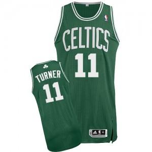Boston Celtics Evan Turner #11 Road Authentic Maillot d'équipe de NBA - Vert (No Blanc) pour Homme