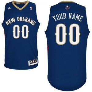 New Orleans Pelicans Authentic Personnalisé Road Maillot d'équipe de NBA - Bleu marin pour Femme