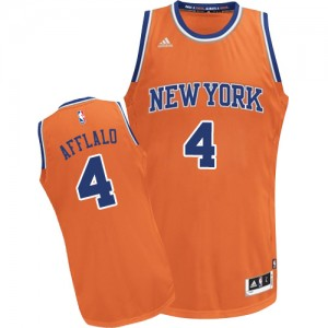 New York Knicks Arron Afflalo #4 Alternate Swingman Maillot d'équipe de NBA - Orange pour Homme