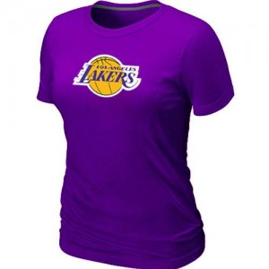 Los Angeles Lakers Big & Tall T-Shirts d'équipe de NBA - Violet pour Femme