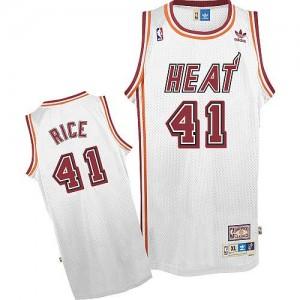 Miami Heat #41 Adidas Throwback Blanc Swingman Maillot d'équipe de NBA Vente - Glen Rice pour Homme